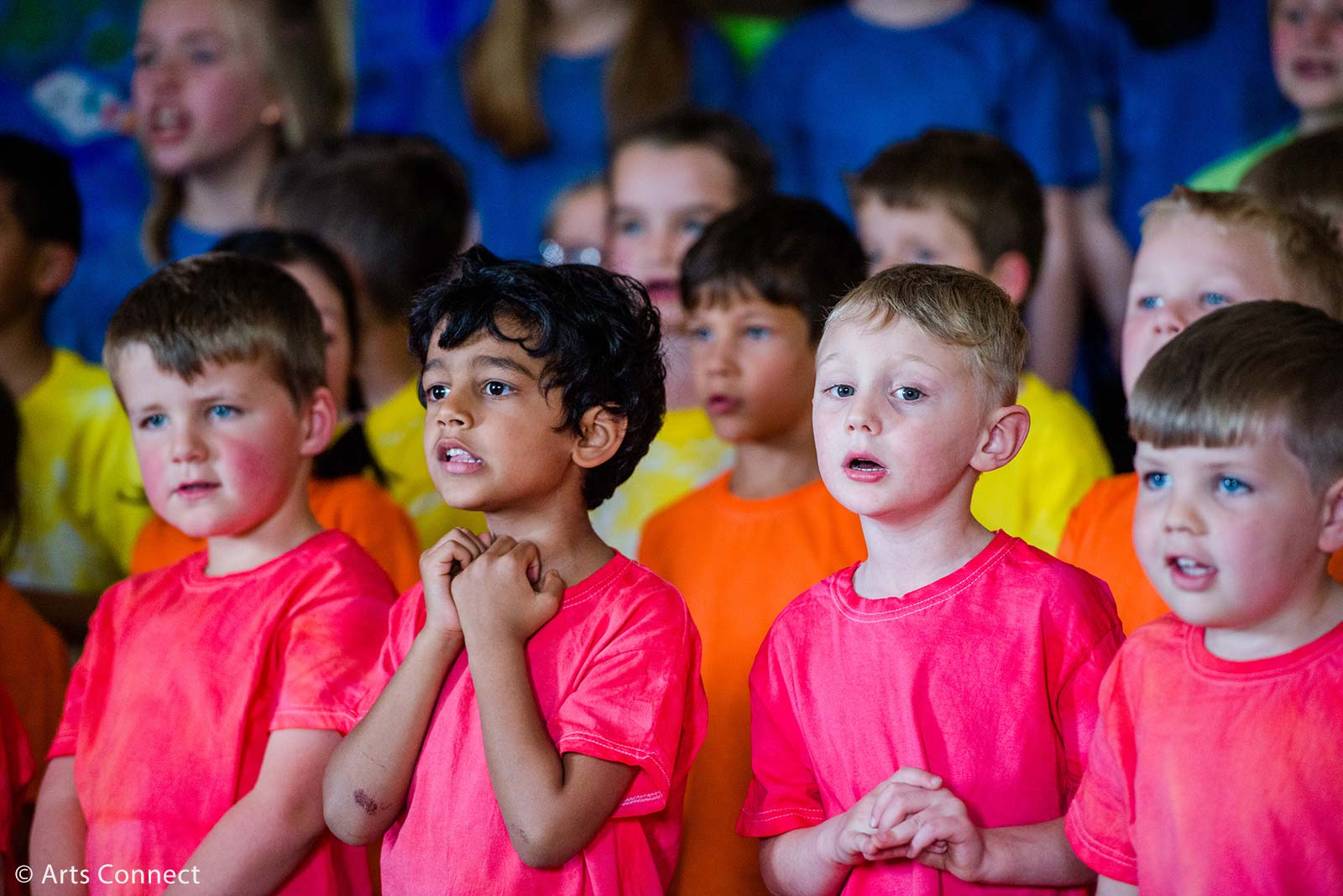 Primary boys singing