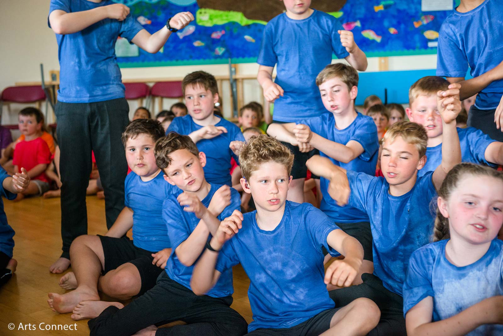 Primary children dancing